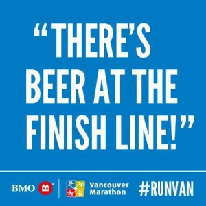 Beer at Finish Line Spectator Sign